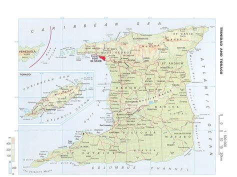 and tobago map and tobago detailed map