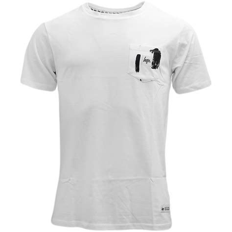 plain t shirt with pattern pocket hype white plain pocket t shirt t shirts mr h menswear