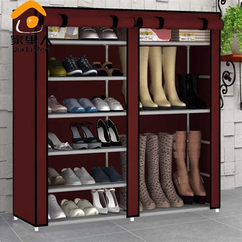 shoe and boot cabinet simple high capacity cloth shoe boots shoe storage