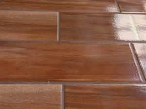 Home origins chic wood cherry shiny ceramic floor tile 525 x 173mm
