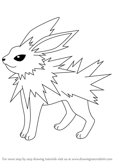 pokemon coloring pages jolteon pokemon drawings step by step images pokemon images
