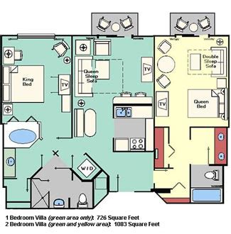 Dining Room Layout by Disney Beach Club Villas