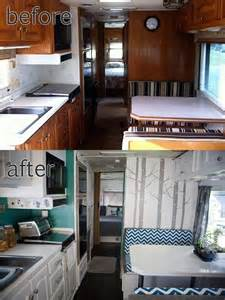 Peel And Stick Wall Murals Cheap rv motorhome interior remodel really like the