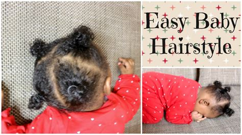 haircut styles for 4 month old afro baby girl hairstyle using rubberbands infant