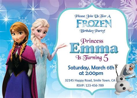 disney frozen birthday invitations printable 17 best images about ideas disney s frozen invites on frozen birthday