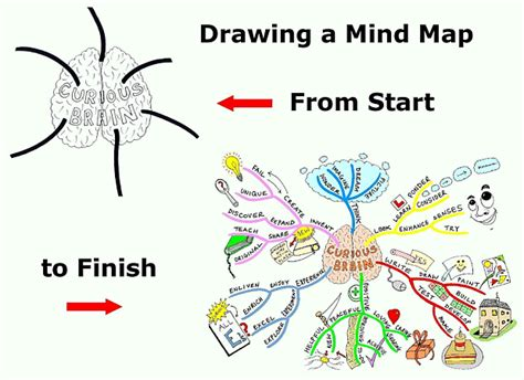 how to start to doodle drawing a mind map from start to finish