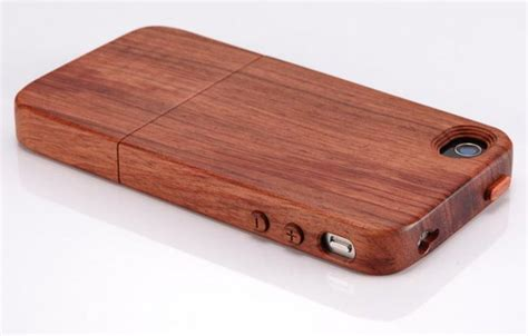 wooden iphone 4 cases and stands