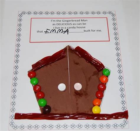gingerbread house daycare gingerbread man rhyme and candy house craft for preschoolers the preschool