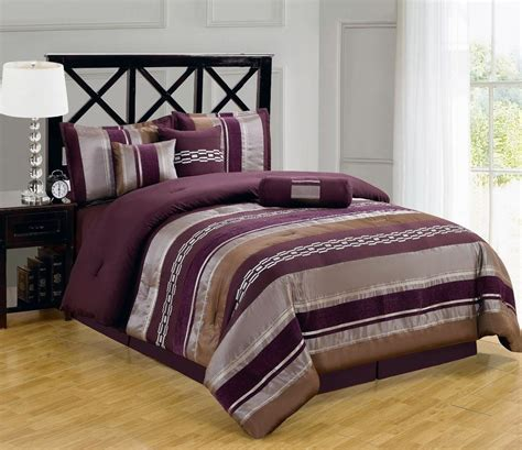 Luxury California King Size 7pc Claudia Purple Comforter Purple Bedding Sets