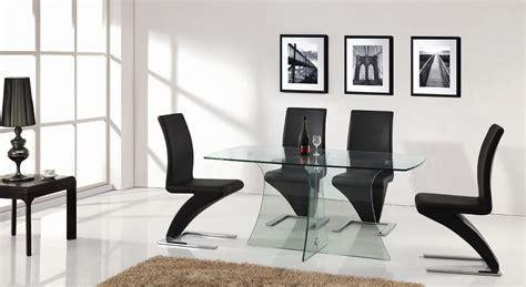 Glass Dining Table And Chairs Clearance Clearance Sale Designer Clear Glass Dining Table With 4 Z Chairs