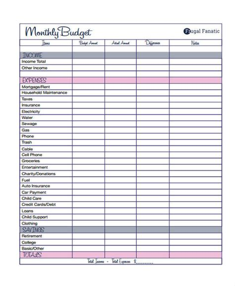 sle personal budget template 28 images quarterly