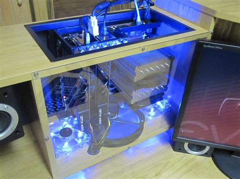 Computer Inside Desk by Custom Computer Built Inside Desk Shelving
