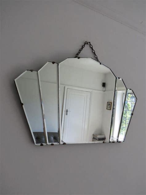 deco fan wall mirror vintage deco fan shape mirror ebay