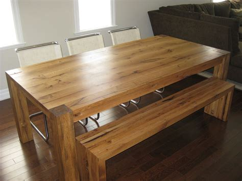 white oak bench hand made reclaimed white oak dining tbale and bench by greenwood custommade com