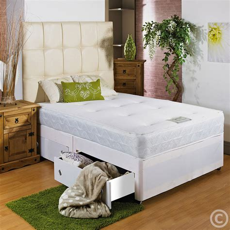 Small Divan Beds With Drawers by 4ft Small Divan Bed Sprung Memory Foam Mattress