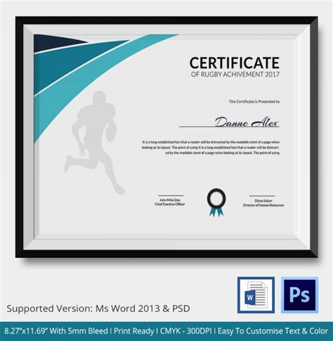 badminton certificate template rug certificate 5 word psd