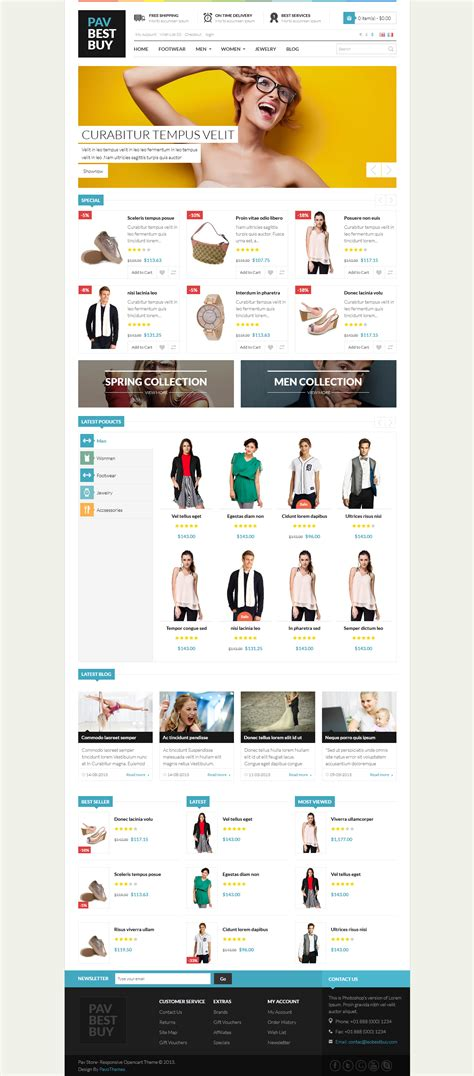 Opencart Templates Responsive pav bestbuy responsive opencart theme by pavothemes