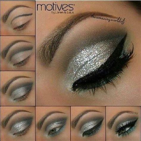 tutorial eyeliner silver sparkly silver eye makeup makeup pinterest silver