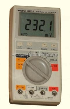 Multimeter Hioki digital multimeter 3231 equipment hioki e e corporation ue