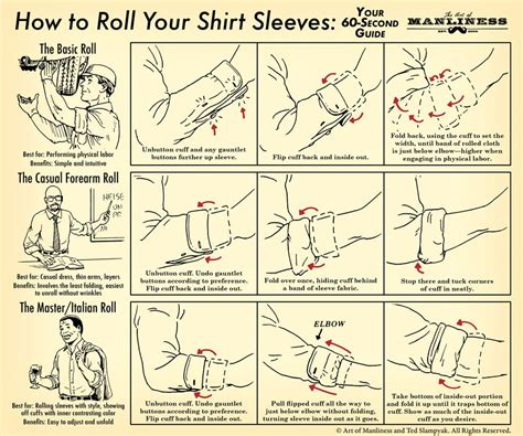 Kemeja Square Army Black White how to roll your shirt sleeves your 60 second illustrated