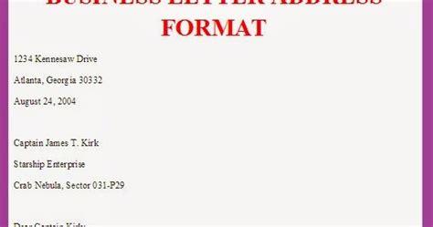 html format address business letter business letter address format