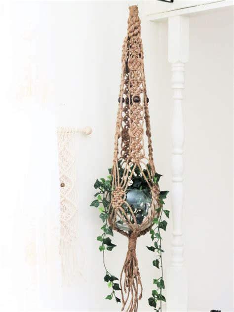 Macrame Hanging Plant Holder - jute macrame plant hanger macrame hanging planter large