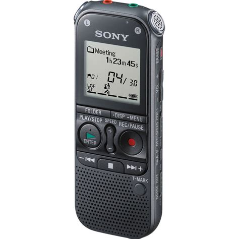 digital recorder sony icdax412 digital voice recorder icdax412 b h photo