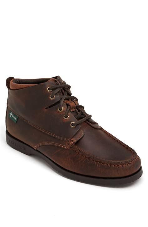 eastland moc toe boots eastland warren moc toe boot in brown for