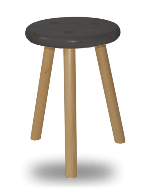Tabouret 3 Pieds Bois by Tabouret Bois Rond 3 Pieds Assise En Sapin Massif