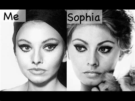 monica bellucci vs sophia loren sophia loren makeup transformation youtube