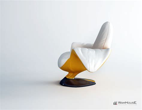 Banana Chair by Zjedzony Banana Chair By Wamhouse Peeled And Eaten