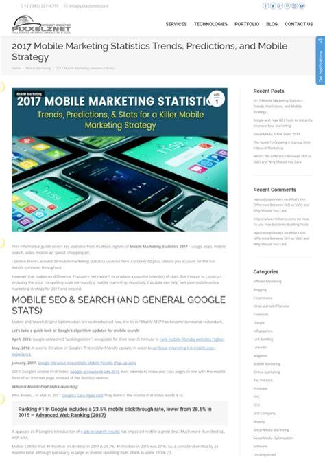 mobile marketing statistics 2017 mobile marketing statistics trends