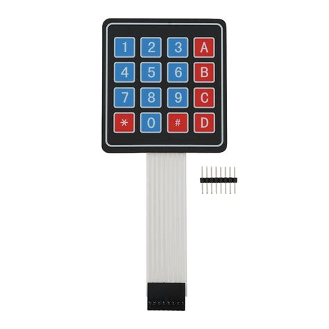 www keypad 4x4 matrix membrane keypad