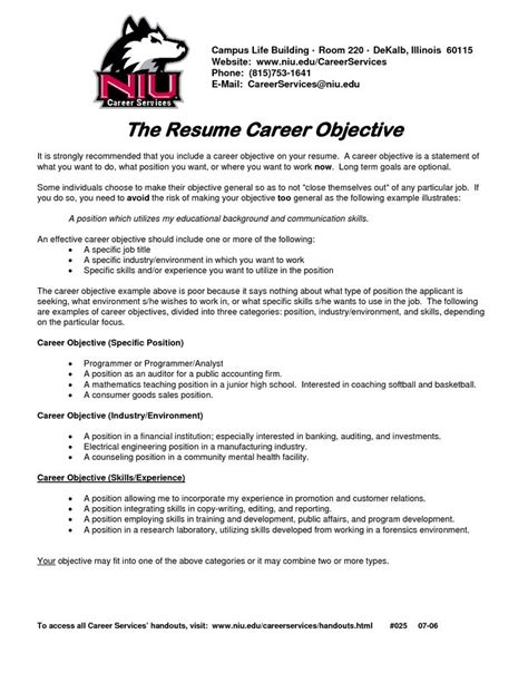 resume objective necessary 1000 ideas about career objective exles on best careers writing a cover letter