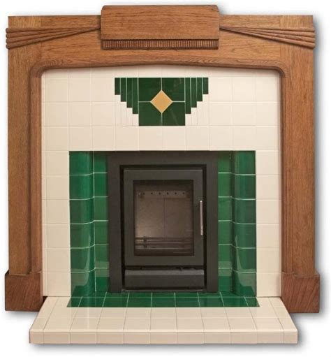 1930s Fireplace Tiles by Wyndham Deco Tiled Fireplace Insert Twentieth