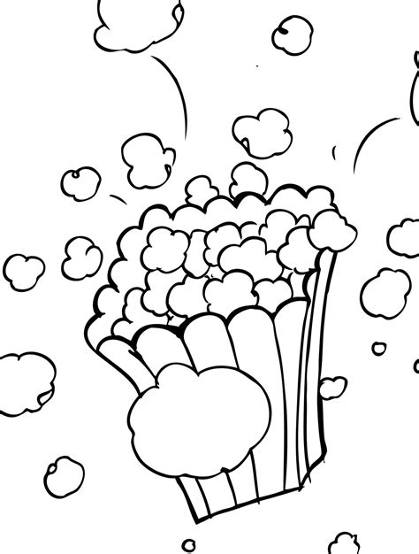 popcorn kernel coloring page sketch coloring page