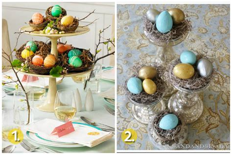 easter centerpiece inspirations for cheerful table