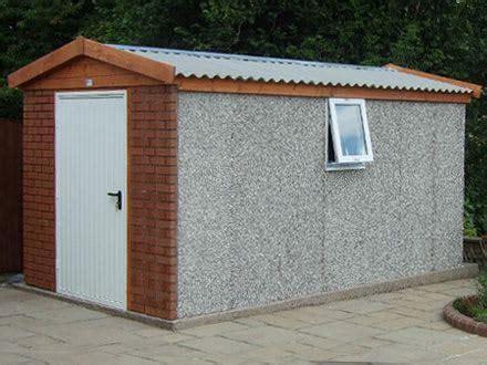 Prefab Concrete Shed by Hanson Garages L Concrete Garages L Concrete Sheds