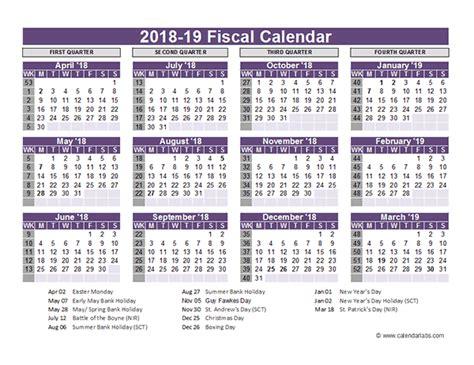 2018 19 Academic Calendar Template uk fiscal calendar template 2018 19 free printable templates