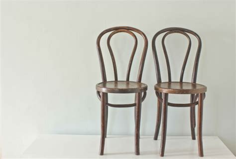 Thonet Bistro Chair Wood Bistro Chairs Thonet Style Bentwood By Thevintagevoguestory