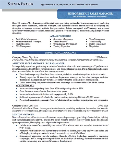 best executive resume sles 2015 store manager resume exle