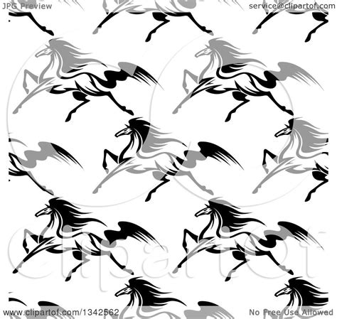 white pattern in horses clipart of a seamless pattern background of black and