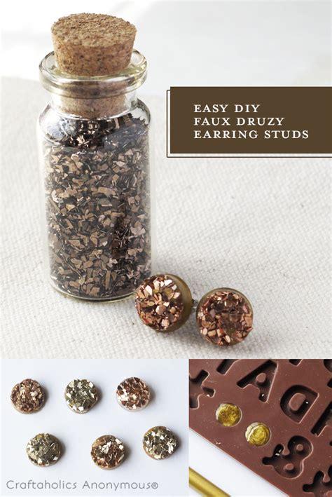 how to make druzy jewelry craftaholics anonymous 174 easy diy druzy stud earrings