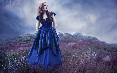 wallpaper girl dress fashion wallpaper blue dress girl hd wallpaper funonsite