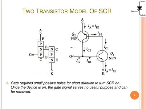 transistor model ppt thyristor devices silicon controlled rectifiers scr powerpoint presentation id 759456