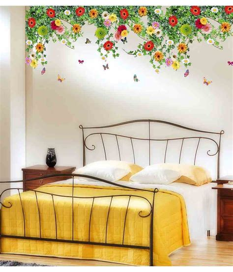 Decorate A Room Online Free stickerskart multicolor bed room backdrop daisy flowers