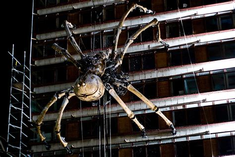 huge spider on side of house la princesse in liverpool photos the big picture boston com