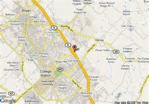 Bryan Tx To Tx Map Of Hton Inn Suites College Station Us 6 East