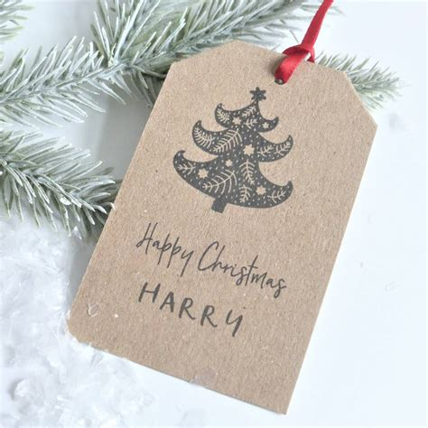 children s personalised christmas gift tags by