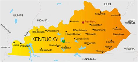 of kentucky colors kentucky map guide of the world